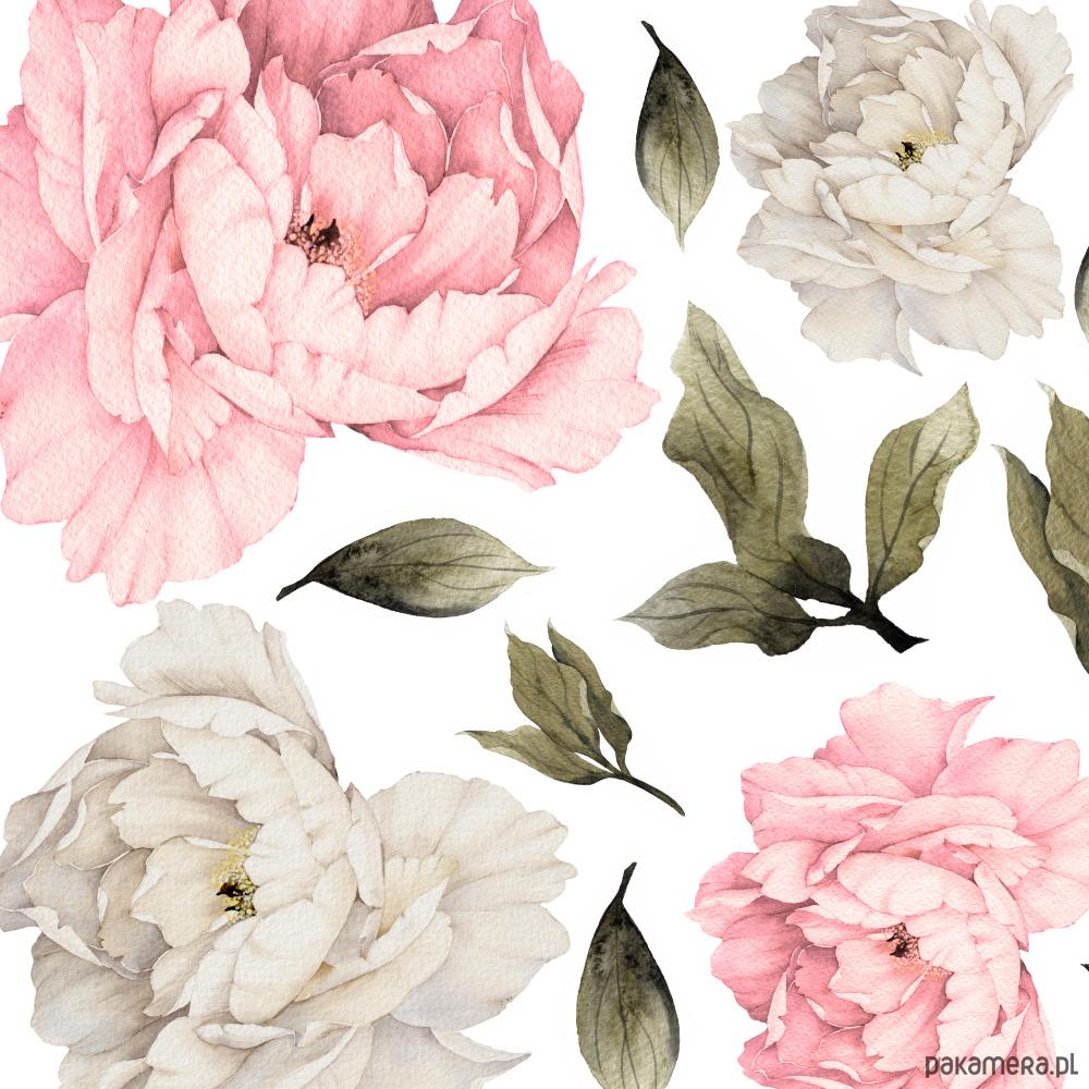 Pastelowe Piwonie Kwiaty Naklejki Na Sciane Dziecko Tapety I