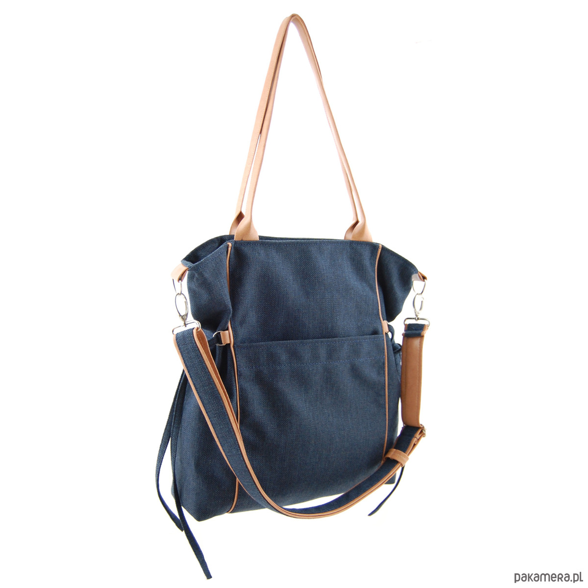 5a1933d0aa53a AMBER - duża torba - granatowa plecionka - torby na ramię - damskie ...