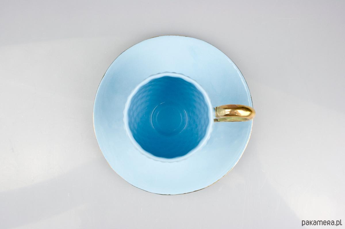 4fae907e1c Niebieska Filiżanka do Kawy ze Złotym Uchem - dekoracje - kubki i ...