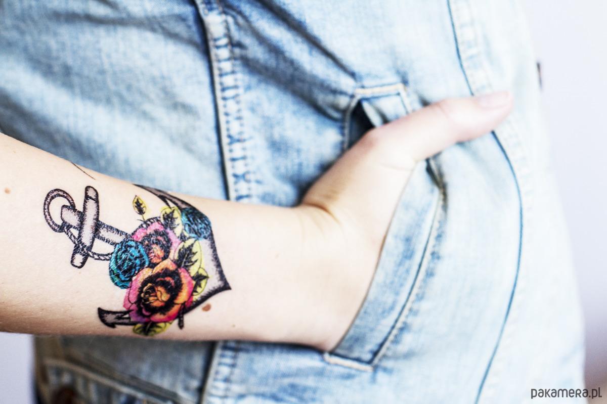 Kotwica Tatuaż Tymczasowy Tatuaże Pakamerapl