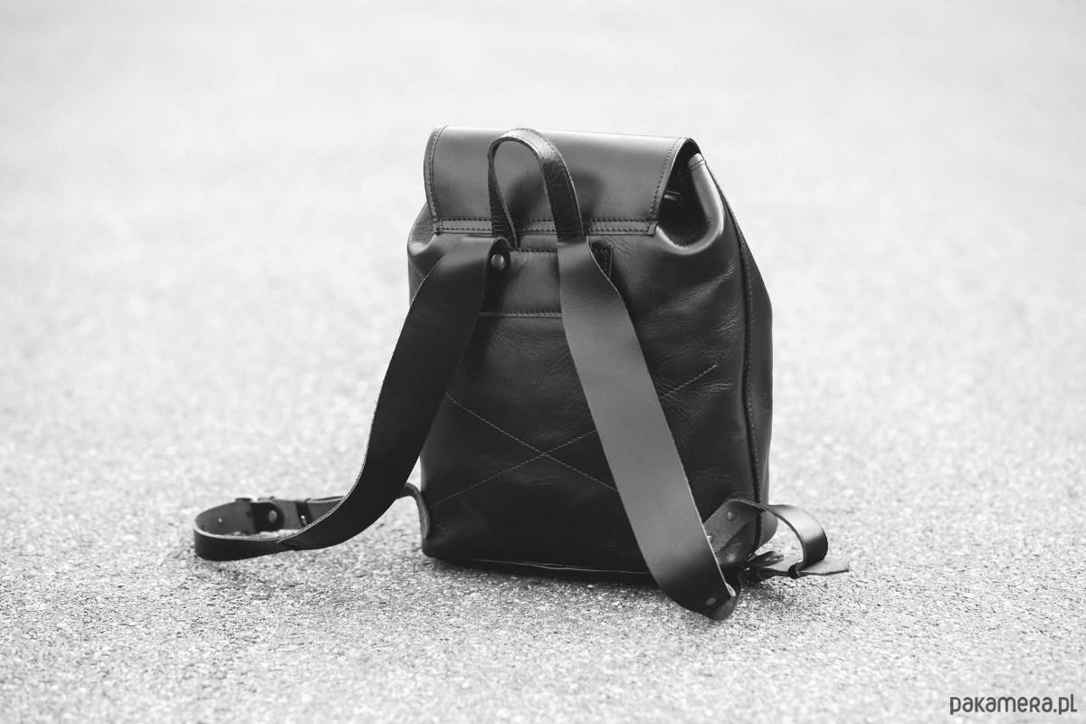 86414558b380f Plecak skórzany ręcznie szyty karmelowy A4 - plecaki - Pakamera.pl
