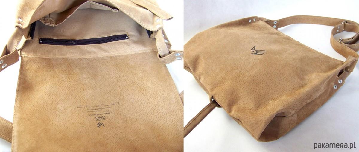 3c250e54d1927 Surowa BARONOWA beżowy zamsz - torby na ramię - damskie - Pakamera.pl