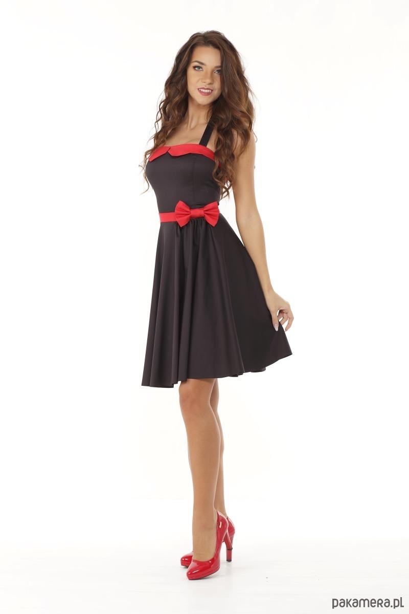 cc0e4b9443 Sukienka rozkloszowana PIN UP czarna - sukienki - mini - Pakamera.pl