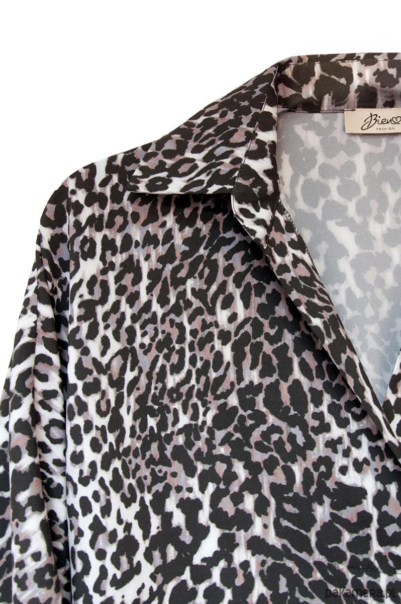 1ed68cba93 Tunika damska o luźnym kroju w animal print - bluzki - tuniki ...