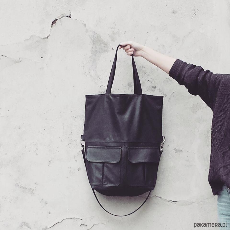1abfdd6680e2a torba skórzana MIYA BLACK - torby na ramię - damskie - Pakamera.pl