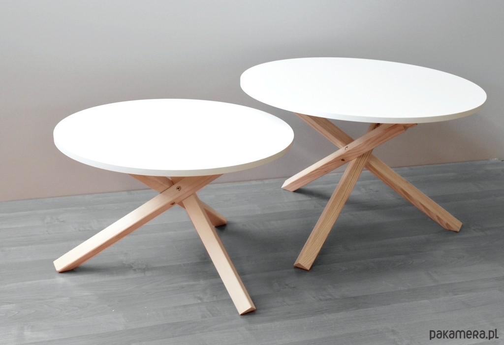 Znane Stolik kawowy okrągły w stylu skandynawskim (68) - meble - stoły i  @SM-47