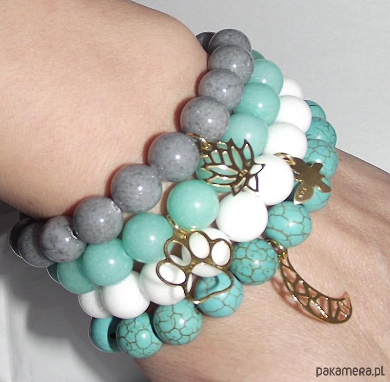 Łapa bransoletka i kolczyki - biżuteria komplety