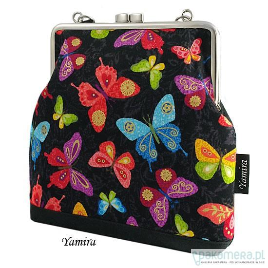 756b424d6377f Torebka    kolorowe motyle    - torby na ramię - damskie - Pakamera.pl