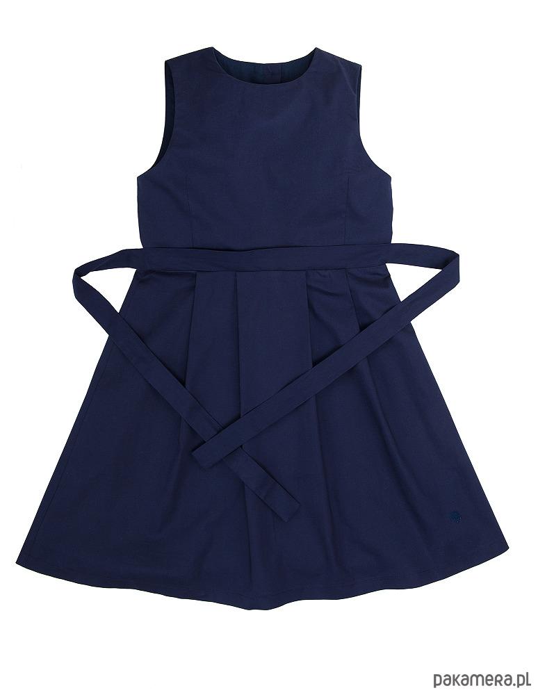 a85a00cd20 Granatowa sukienka wiązana z tyłu - dziewczynka - sukienki - Pakamera.pl