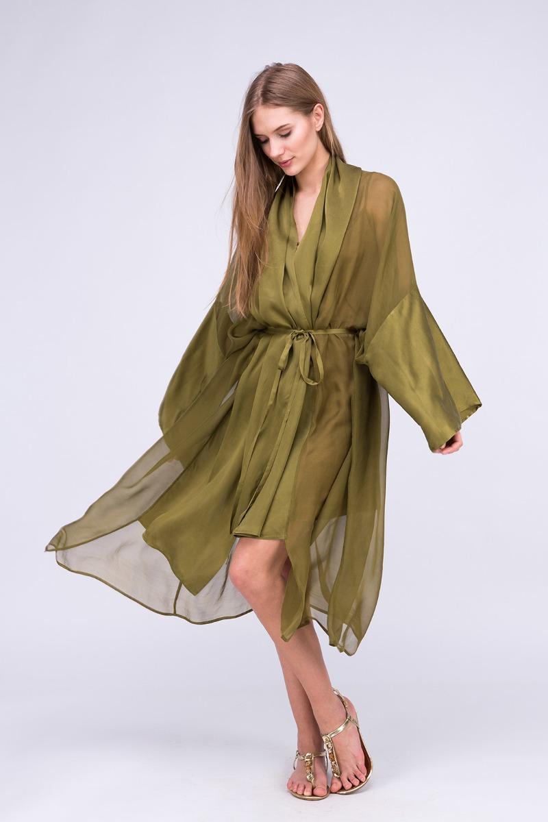 f2827ccbefe1 Sukienka-kimono WEZEN Khaki - sukienki - midi - Pakamera.pl
