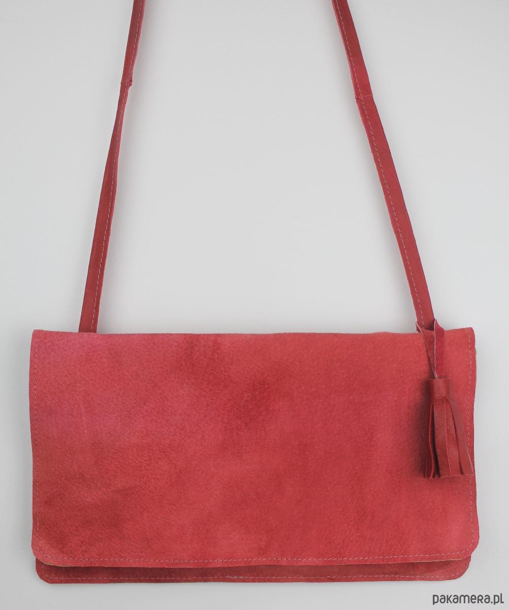 69510149d5520 URCHYNN zamszowa czerwona mini torebka