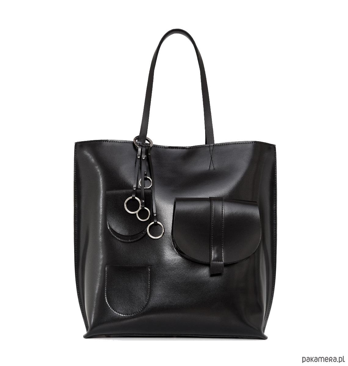 13a718149a413 Duża torba ze skóry naturalnej Sugar Shopper - torby na ramię ...
