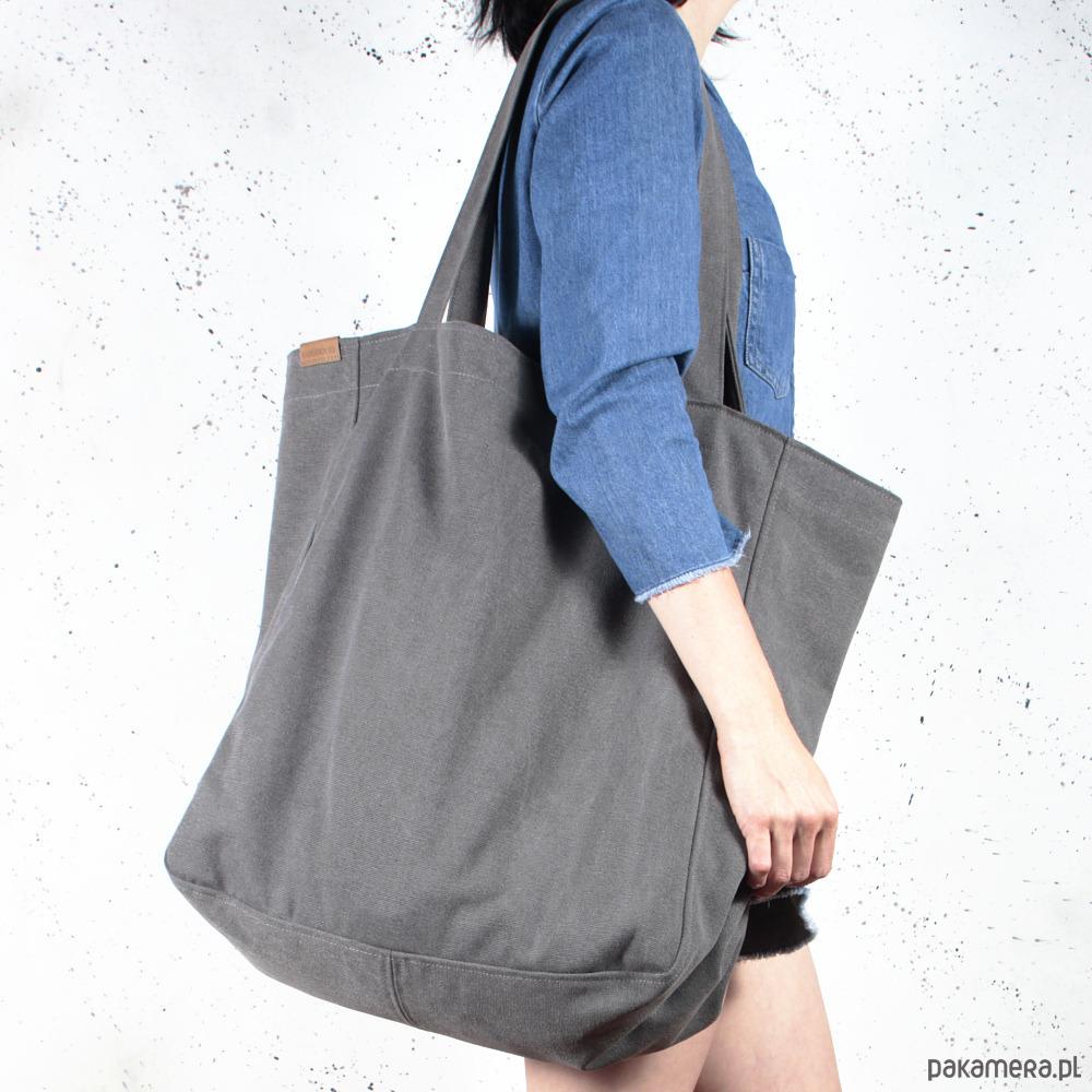 87c2517a3e3d0 Big Lazy bag torba grafitowa na zamek   vegan - torby XXL - damskie ...
