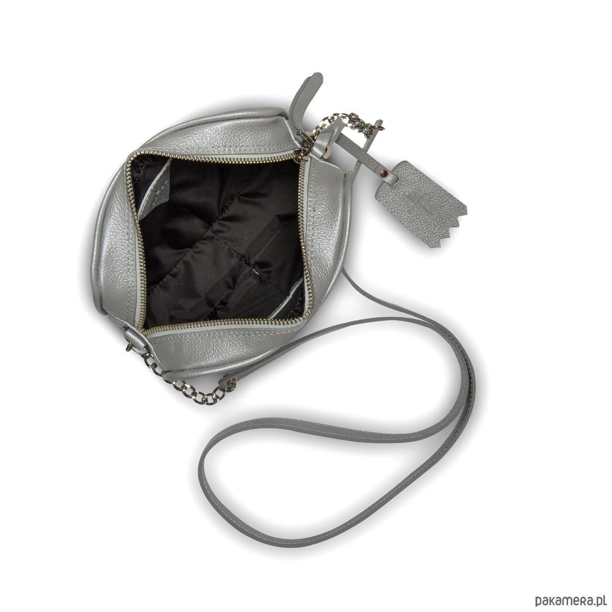 0f654bdb0f67b Skórzana listonoszka jasnoszara Michela G-43 B - torebki mini ...