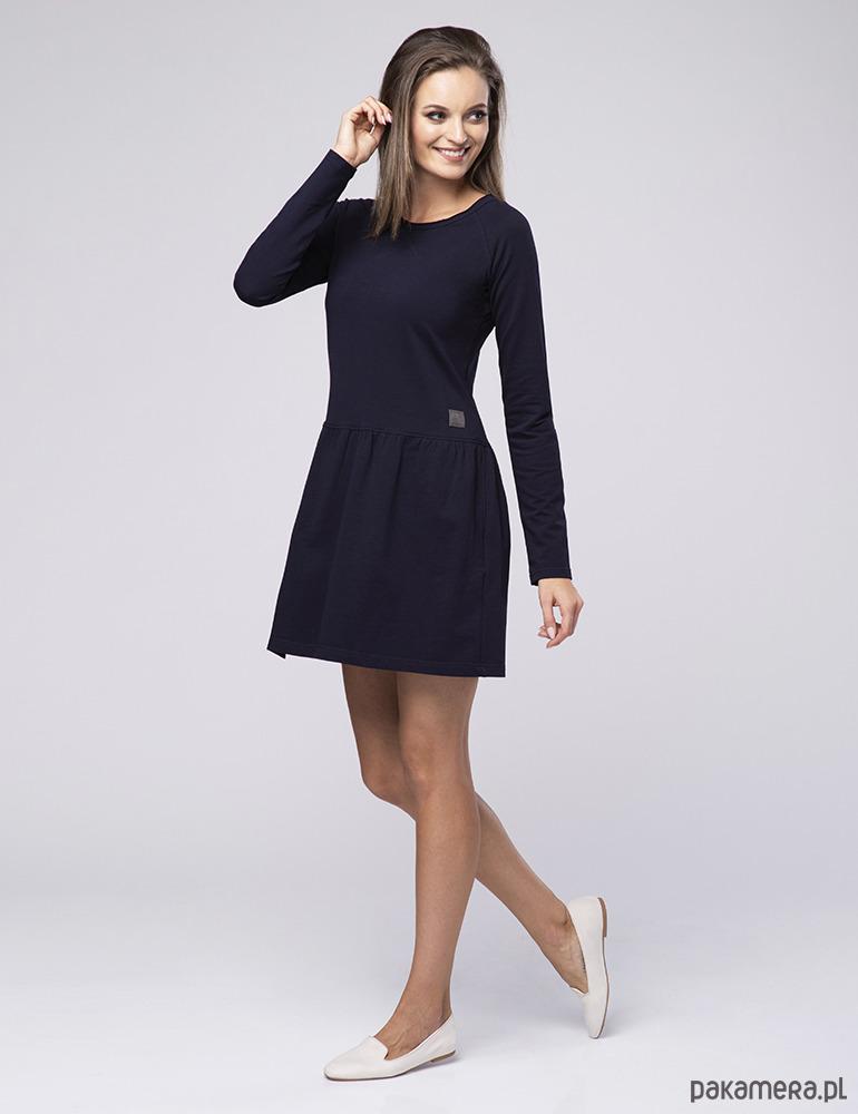 cb8cd34cbe Sukienka z dżerseju Happy Look 710 - sukienki - midi - Pakamera.pl