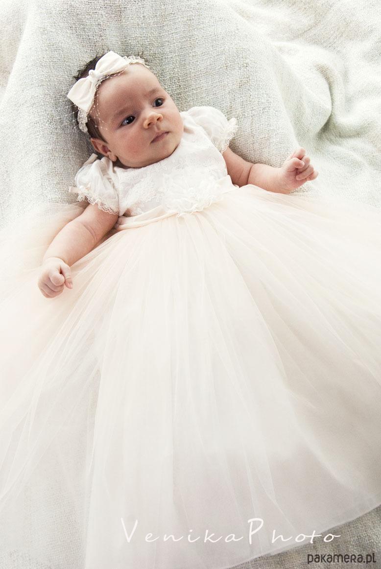 26f1bef184 Tiulowa sukienka do chrztu MICHALINE - Chrzest - szatki