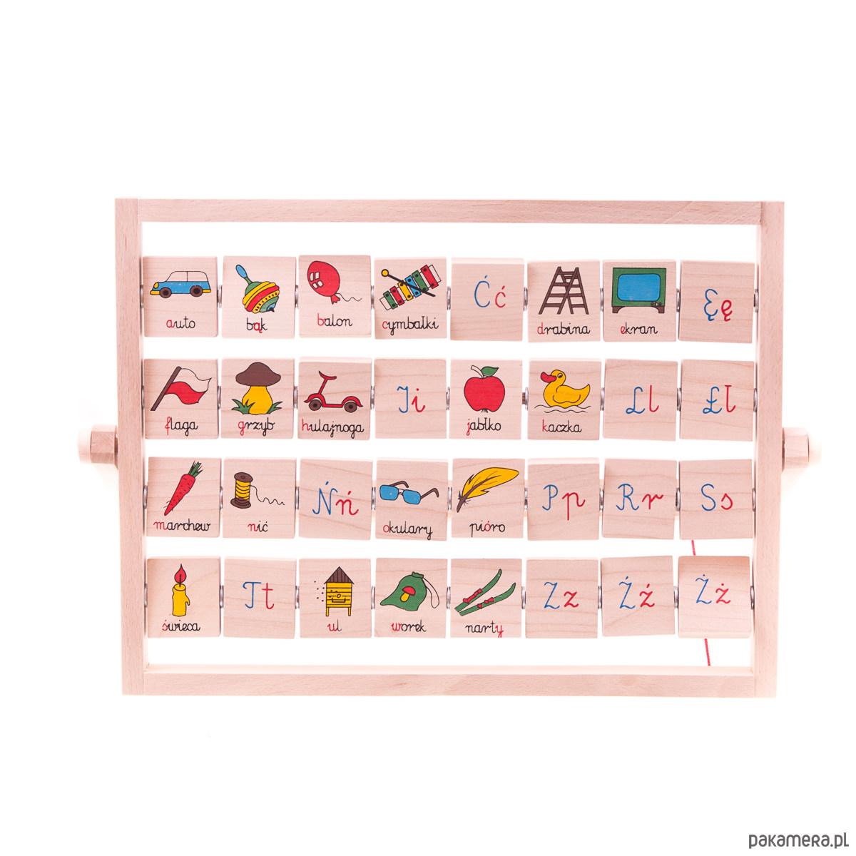Alfabet Polski 32 Litery Personalizacja Zabawki Gry