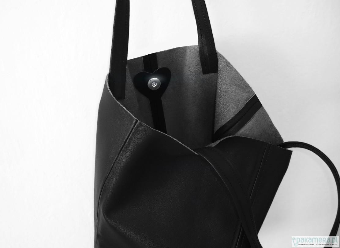 2d42a1b964c26 TOTE BAG skóra naturalna CZERŃ - torby na ramię - damskie - Pakamera.pl