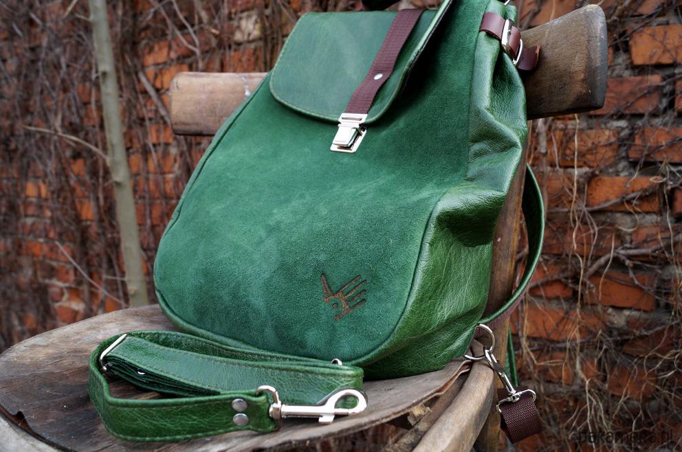 db1a4133a0e7b LILITH plecak torba zielona skóra LILITH plecak torba zielona skóra ...