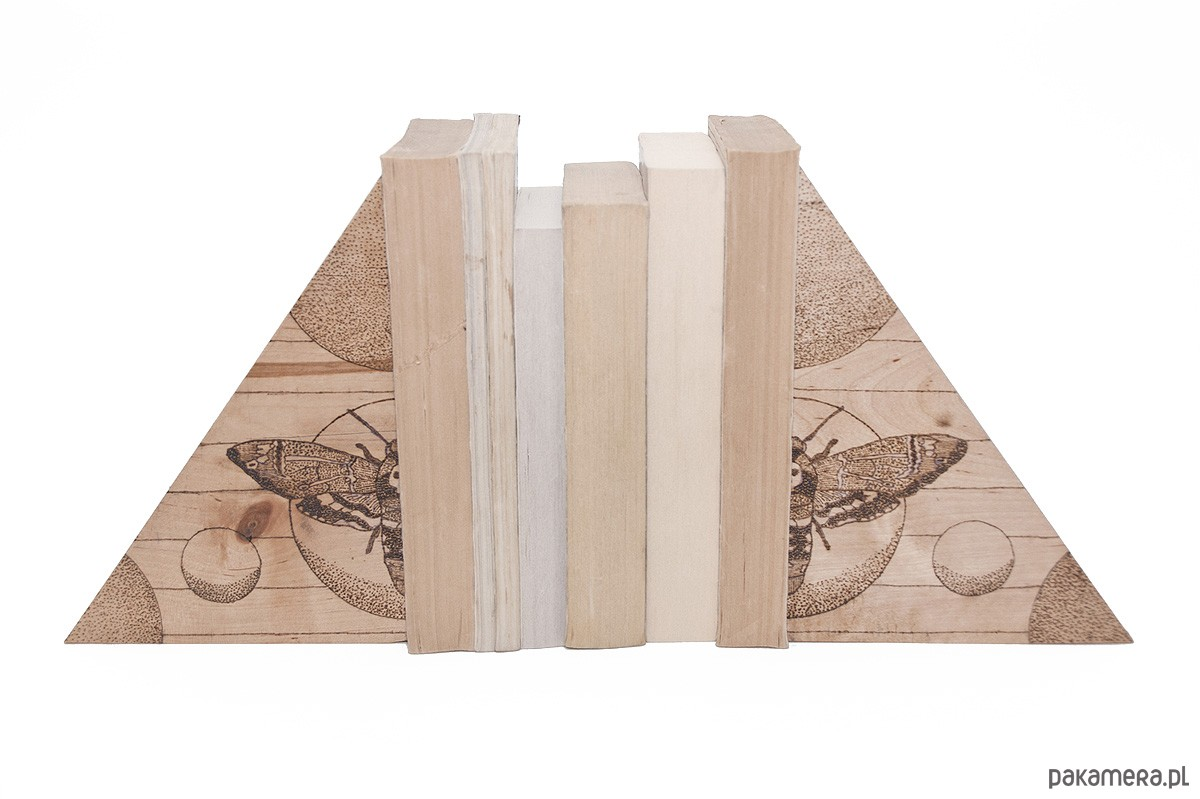 drewniane bookendy PreyStructure