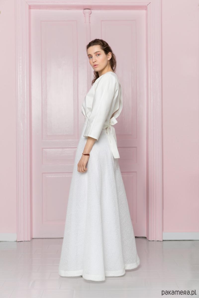 ec527b7768 Długa biała spódnica - spódnice - maxi - Pakamera.pl