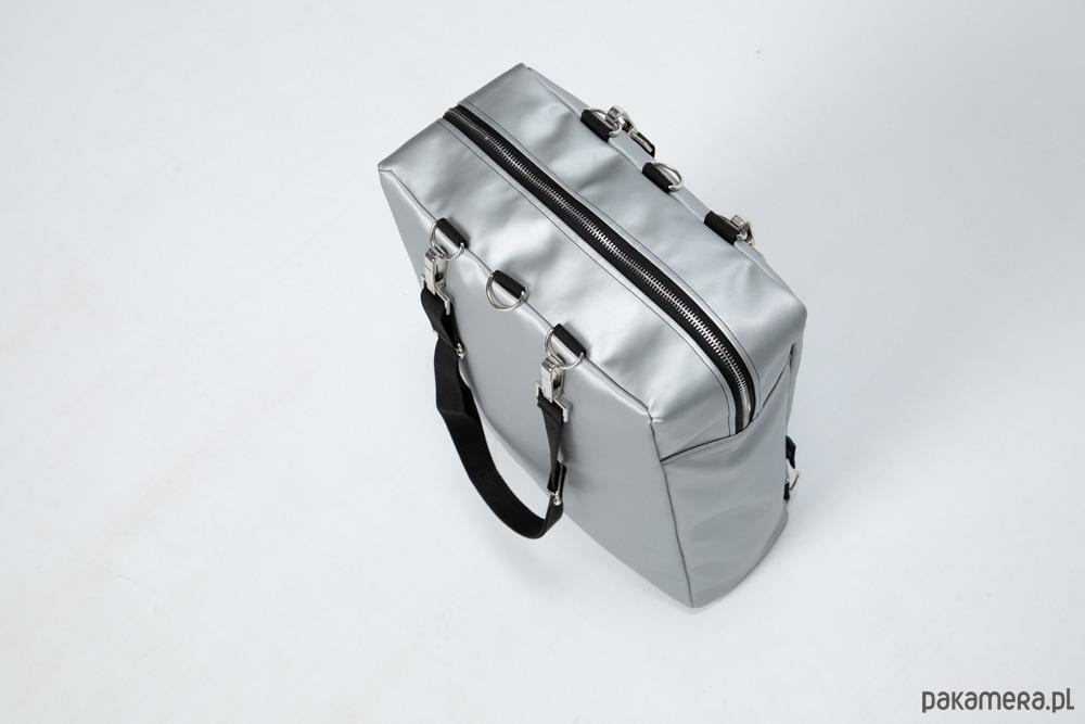 d08bc48d62c51 Srebrny plecak/torba z ekologicznej skóry - plecaki - Pakamera.pl