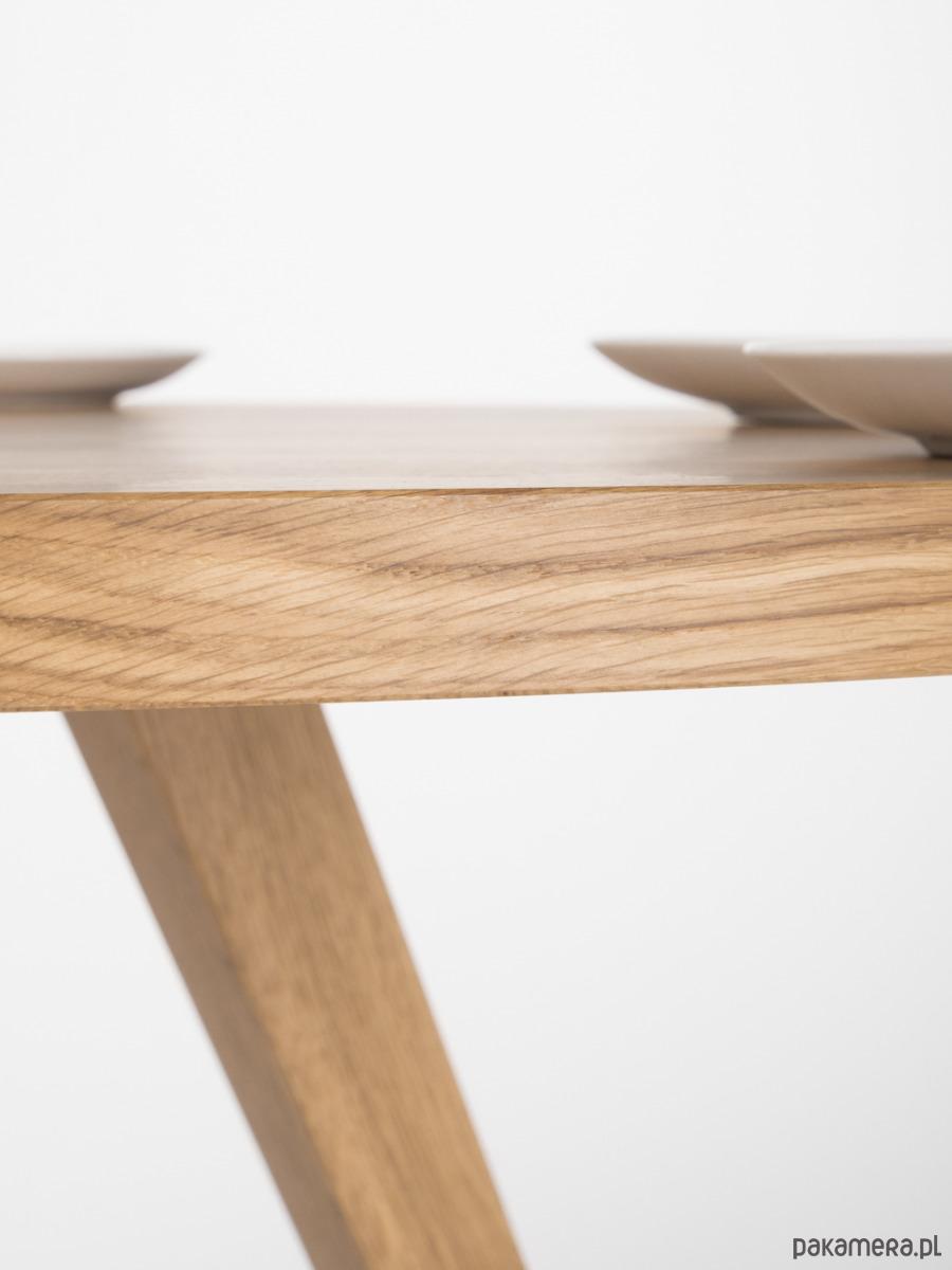 Niesamowite Okrągły stół dębowy w stylu skandynawskim - meble - stoły i DP23