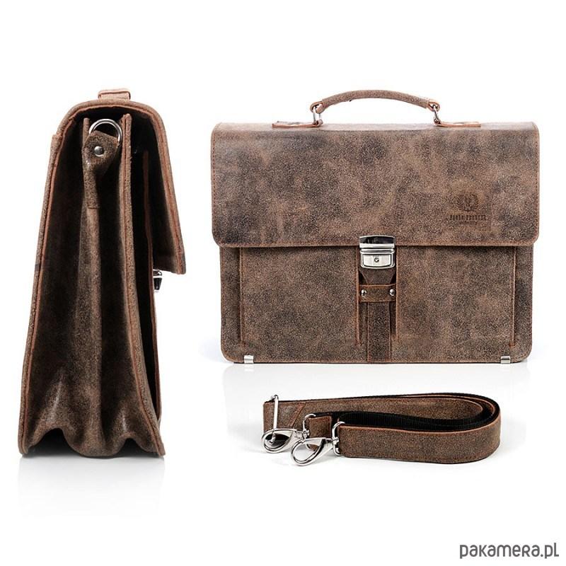 c14643fa06924 Teczka męska skórzana Paolo Peruzzi Vintage 001 - akcesoria - torby ...