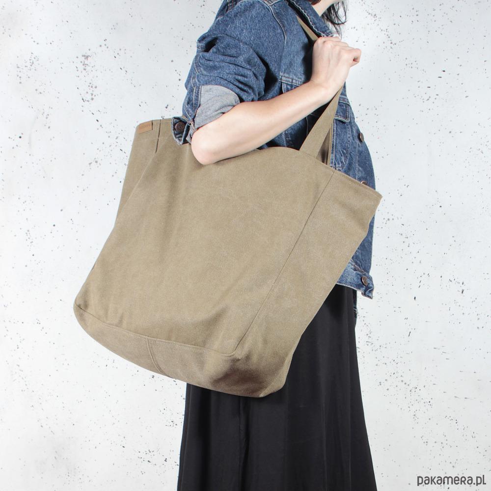 9047e9e94e82e Lazy bag torba khaki   zieleń na zamek   vegan - torby na ramię ...