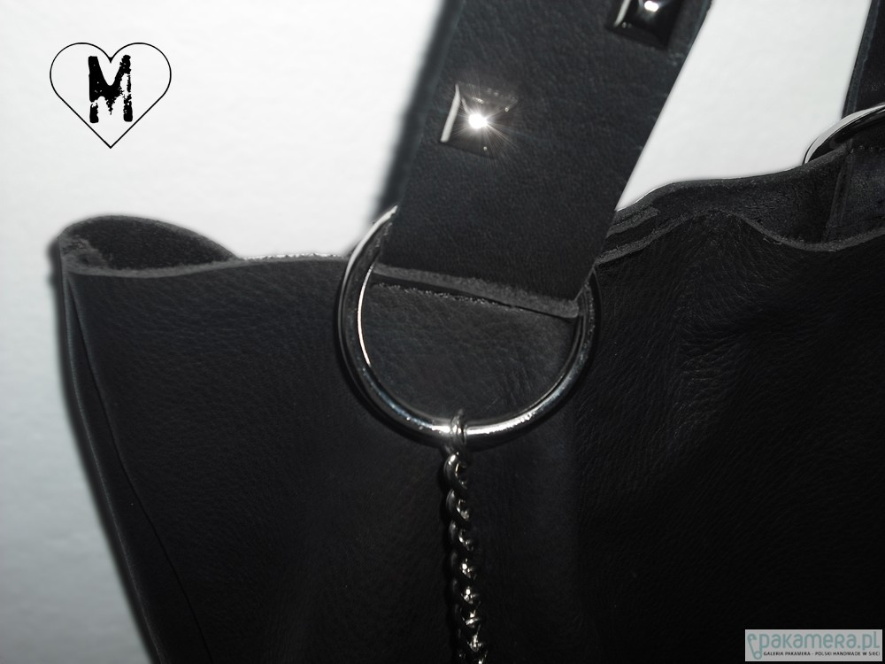 35f8be1e0d5dc SHOPPER skóra naturalna CZARNY - torby na ramię - damskie - Pakamera.pl