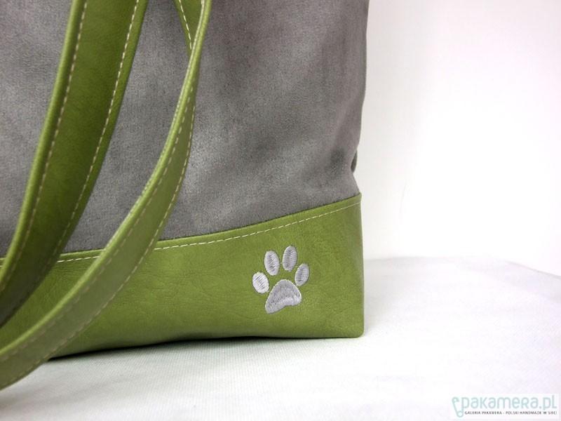 bf7f36f23e554 Pojemna torba XL szary i zielony - torby na ramię - damskie ...