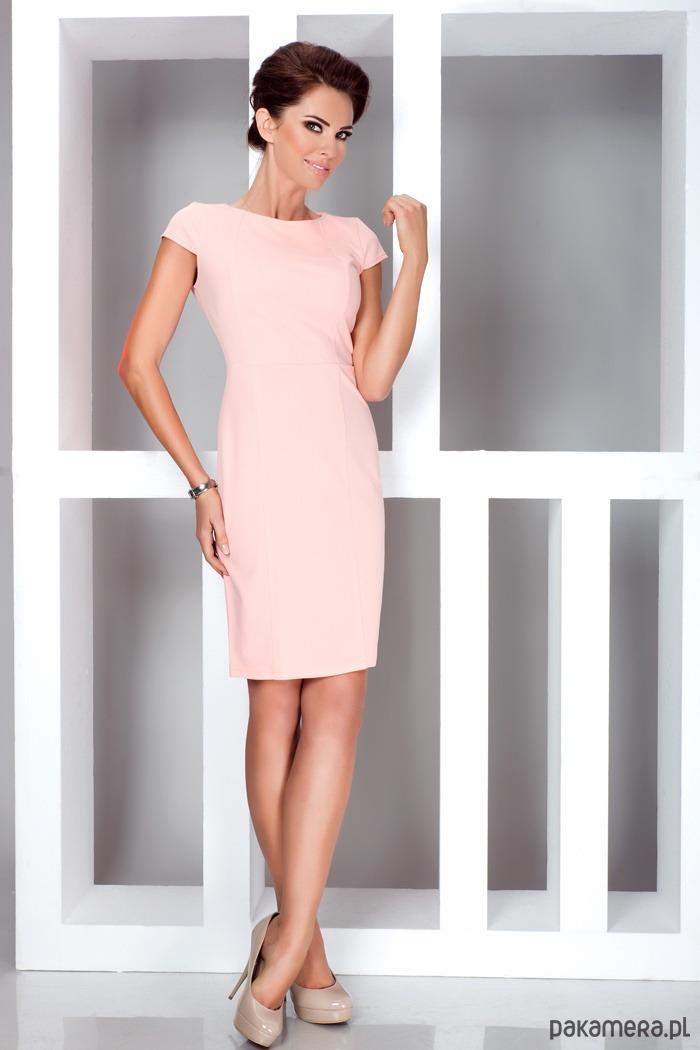 cebeca5056 Sukienka wizytowa EMMA brzoskwiniowa XL - sukienki - różne - Pakamera.pl