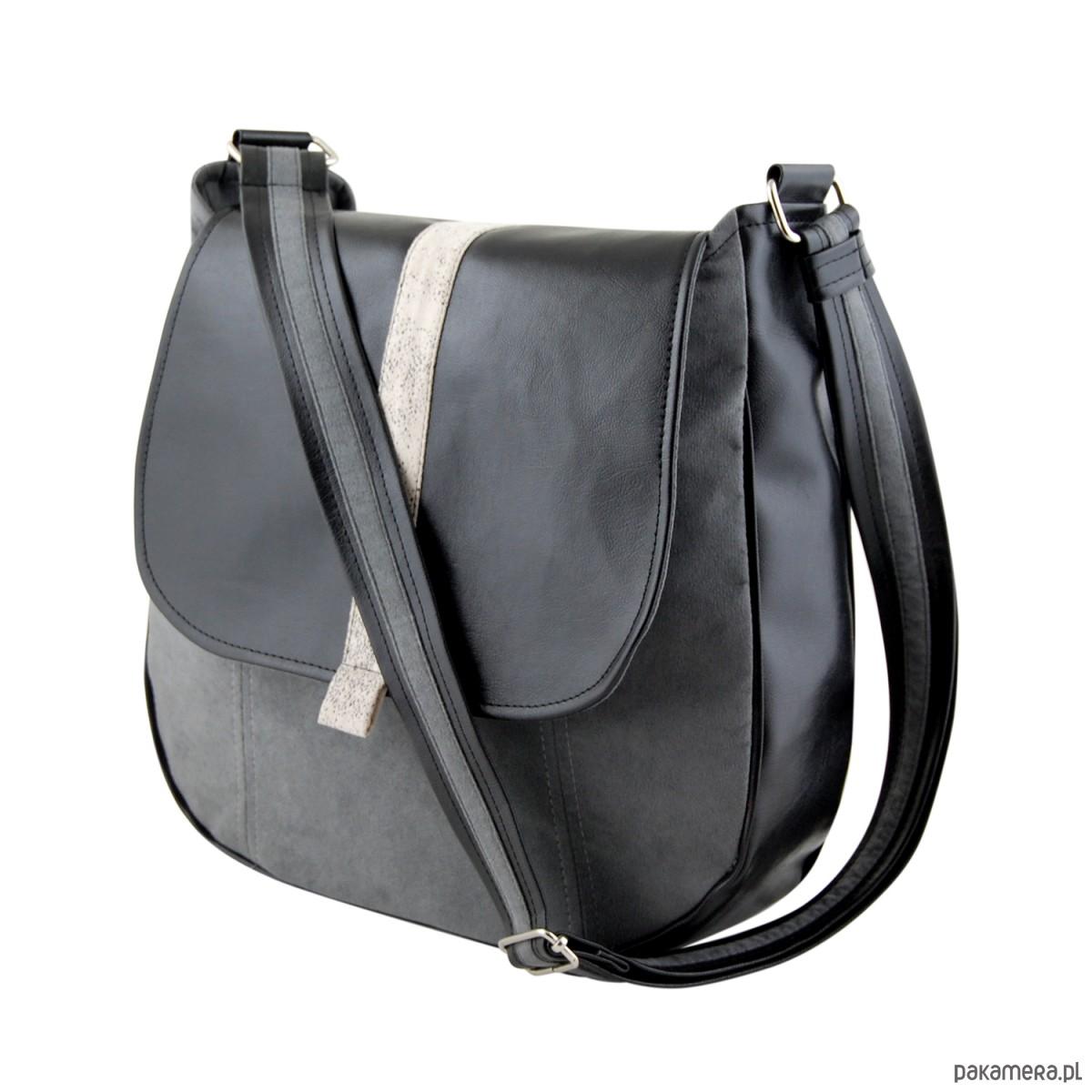 2d03eb1452781 SASHKA - torebka na ramię - czerń i szarość - torby na ramię ...
