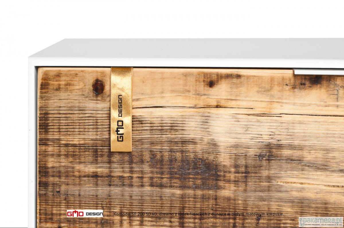Młodzieńczy Komoda SF 200 cm Stare drewno z Łodzi Flisackich - meble - komody OV35