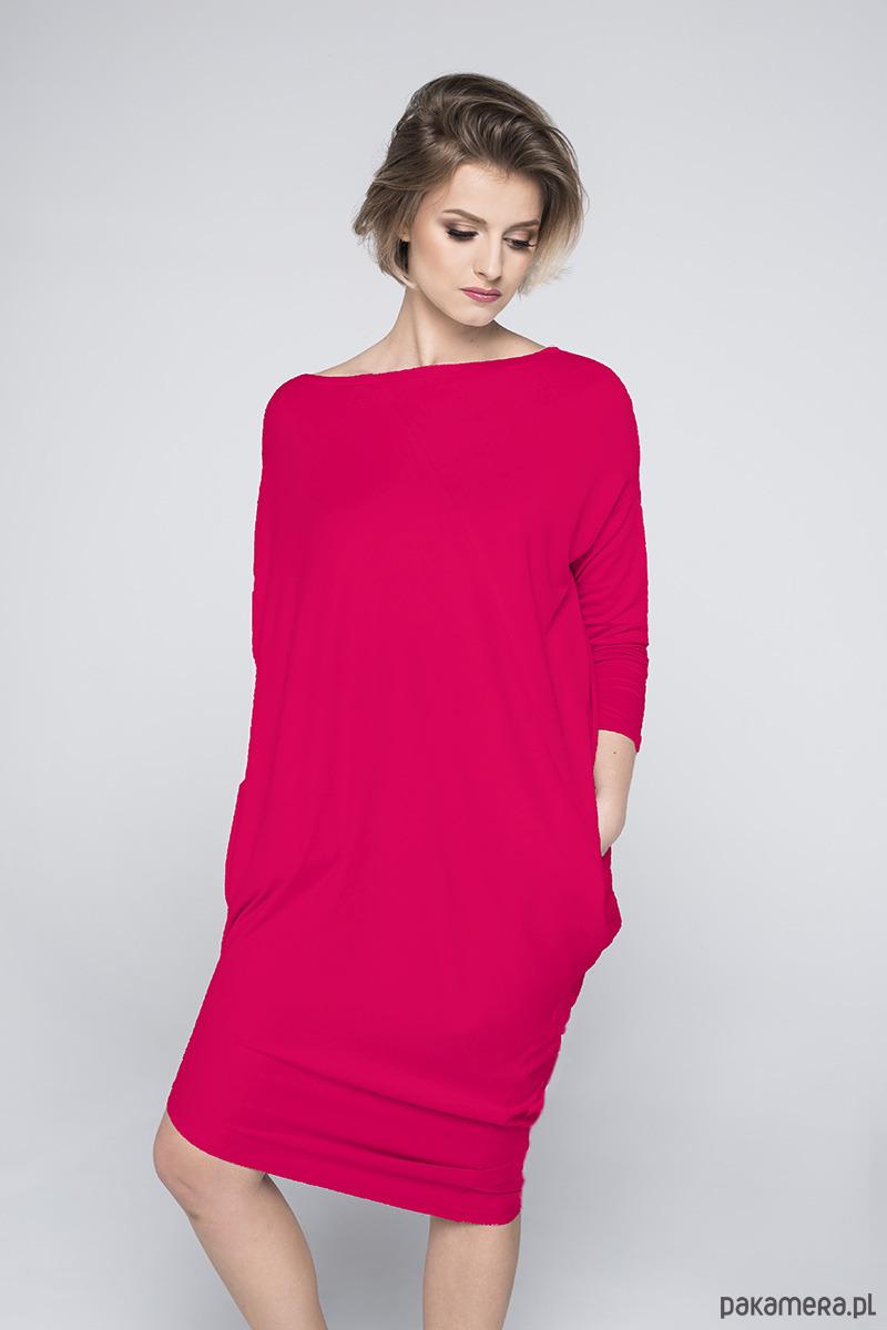 828b7567ea Sukienka NUIT malinowa - sukienki - różne - Pakamera.pl