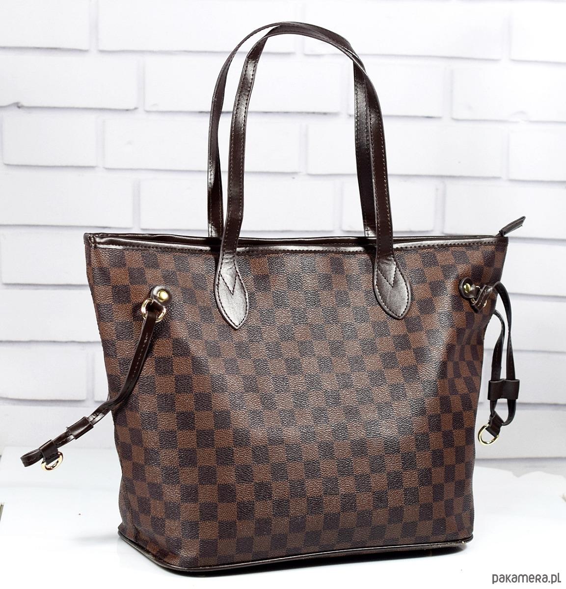 5360db9fd1b37 Torebka damska EMRE brązowa shopper miejska duża - torby na ramię ...