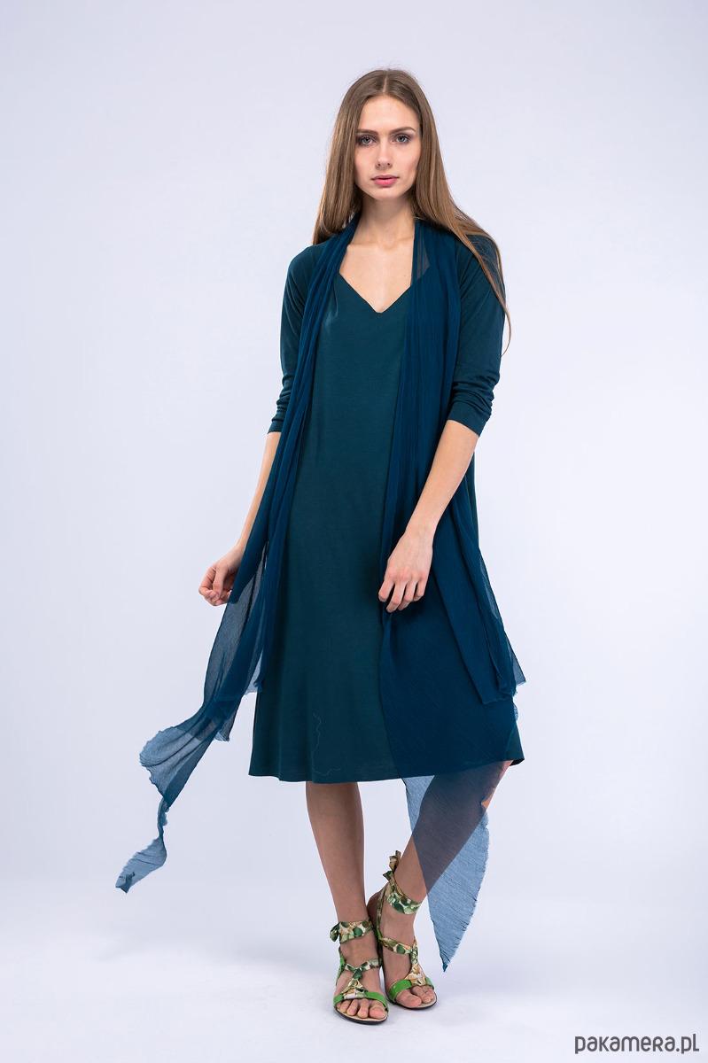 1ada3021311d Chinook Blue-Green Sukienka - sukienki - midi - Pakamera.pl