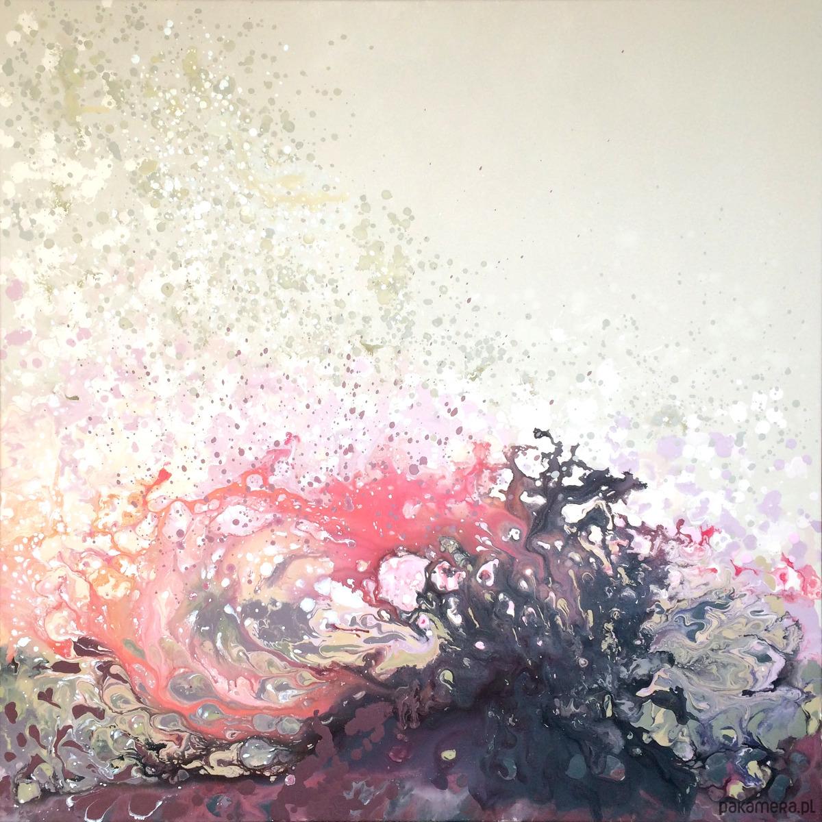 Płótno 100x100cm Obraz Farbami Akrylowymi Malarstwo Pakamerapl