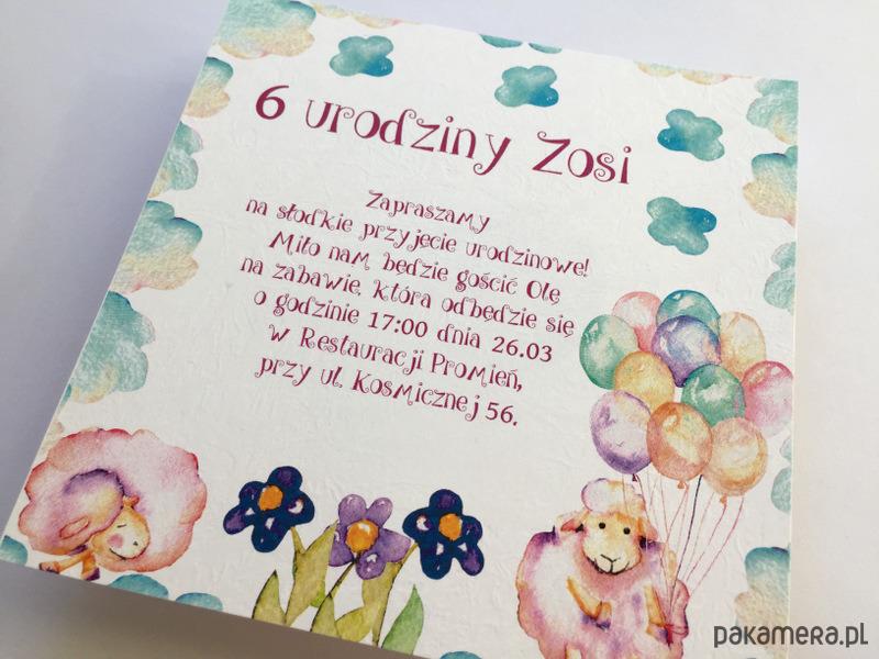 Zaproszenie Na Urodziny Dziecka Sheep Kartki Okolicznościowe