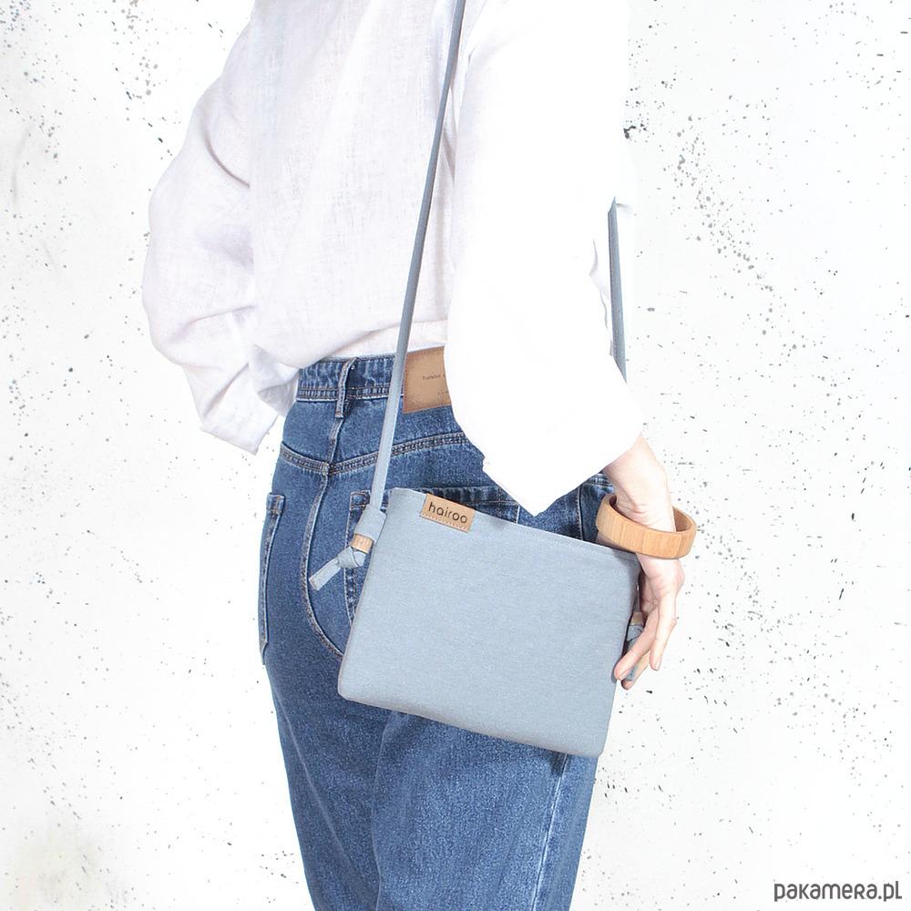 09d7a68fa0f16 Nodo Bag S niebieska mała kopertówka z paskiem - torebki mini ...