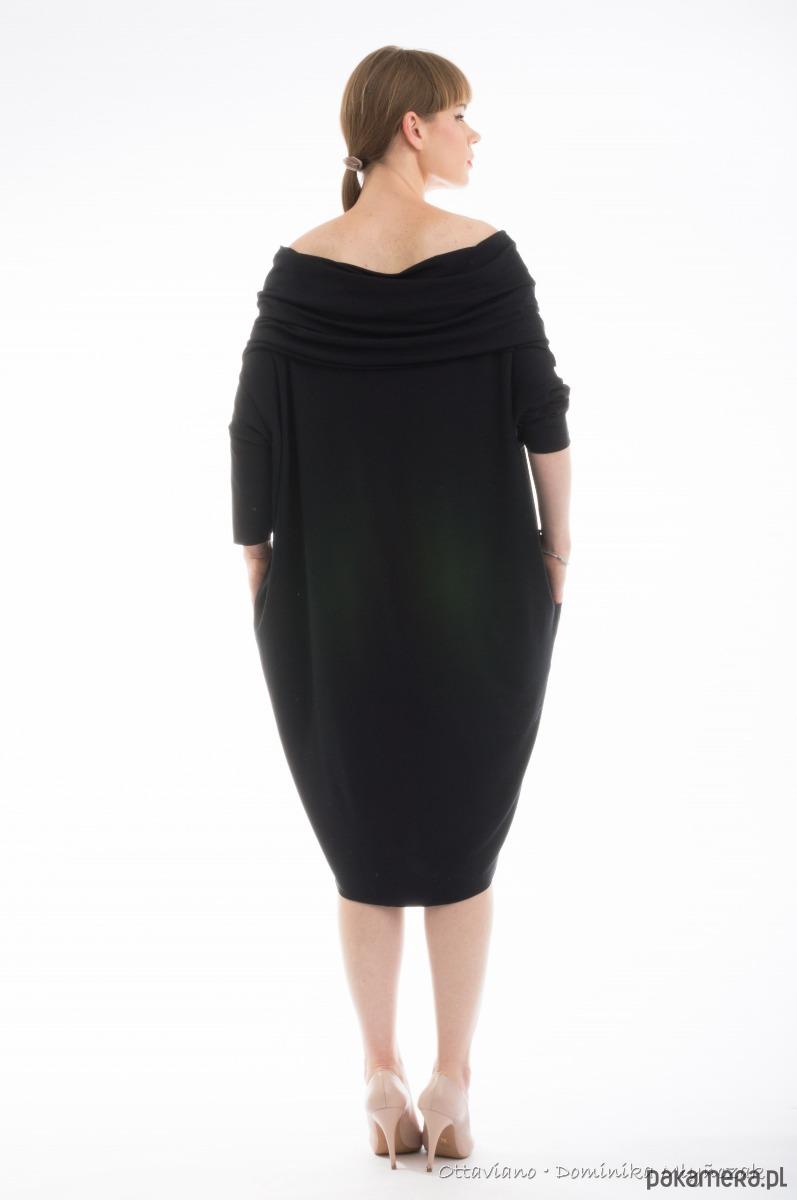 2f03ff3e23 OVERSIZE sukienka dresowa WODA L XL XXL - sukienki - midi - Pakamera.pl