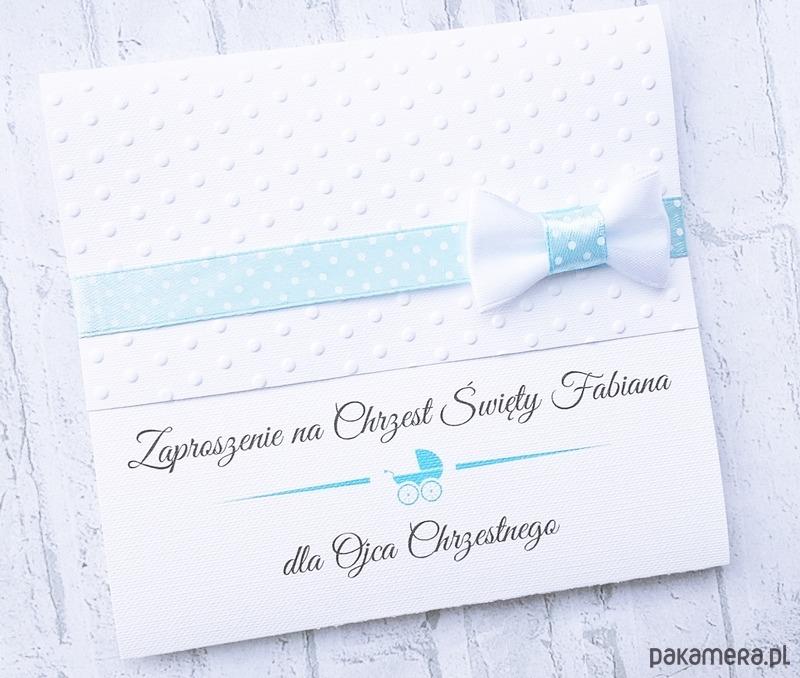 Zaproszenia Na Chrzest Chrzciny Personalizowane Chrzest Kartki