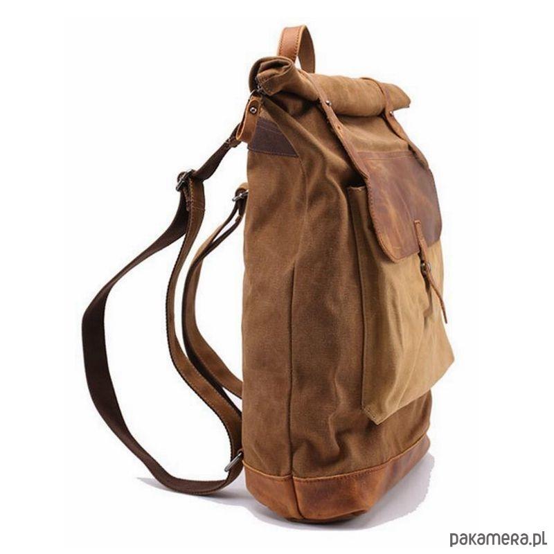 84abd486c633d P4 VINTAGE MARK I™ Plecak płótno + skóra - plecaki - Pakamera.pl