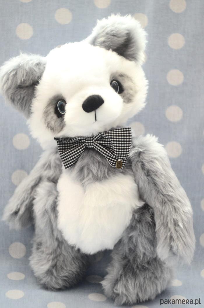 Genialny Hand made, Miś panda- Odo, szyty ręcznie, 30cm, - zabawki - misie AV97