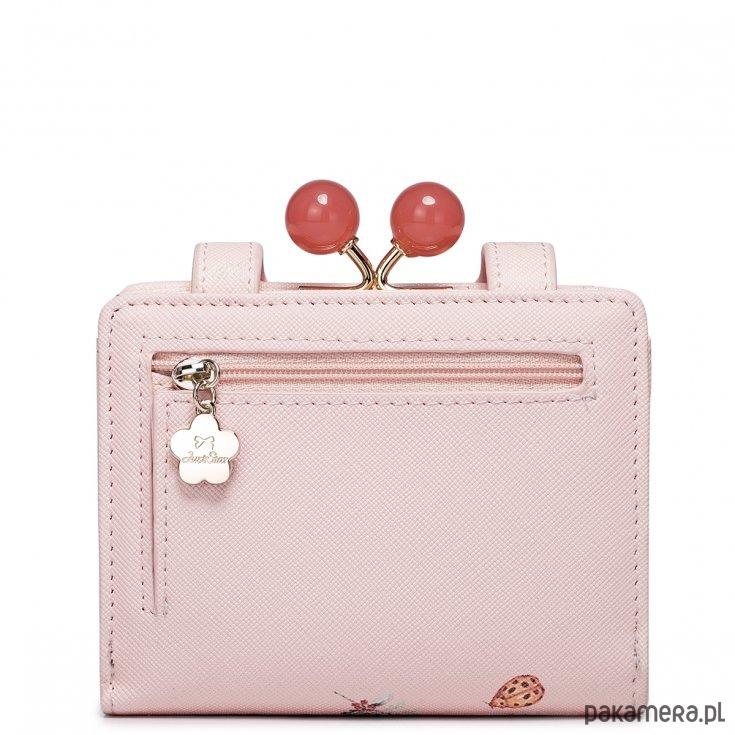 331e749065ad5 Krótki dziewczęcy portfel z wzorem Różowy Krótki dziewczęcy portfel z  wzorem Różowy ...