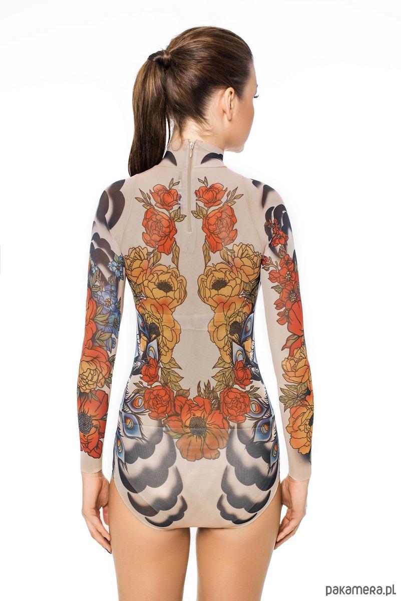 Body Z Tatuażem Royal Peacocks Bluzki T Shirty Damskie