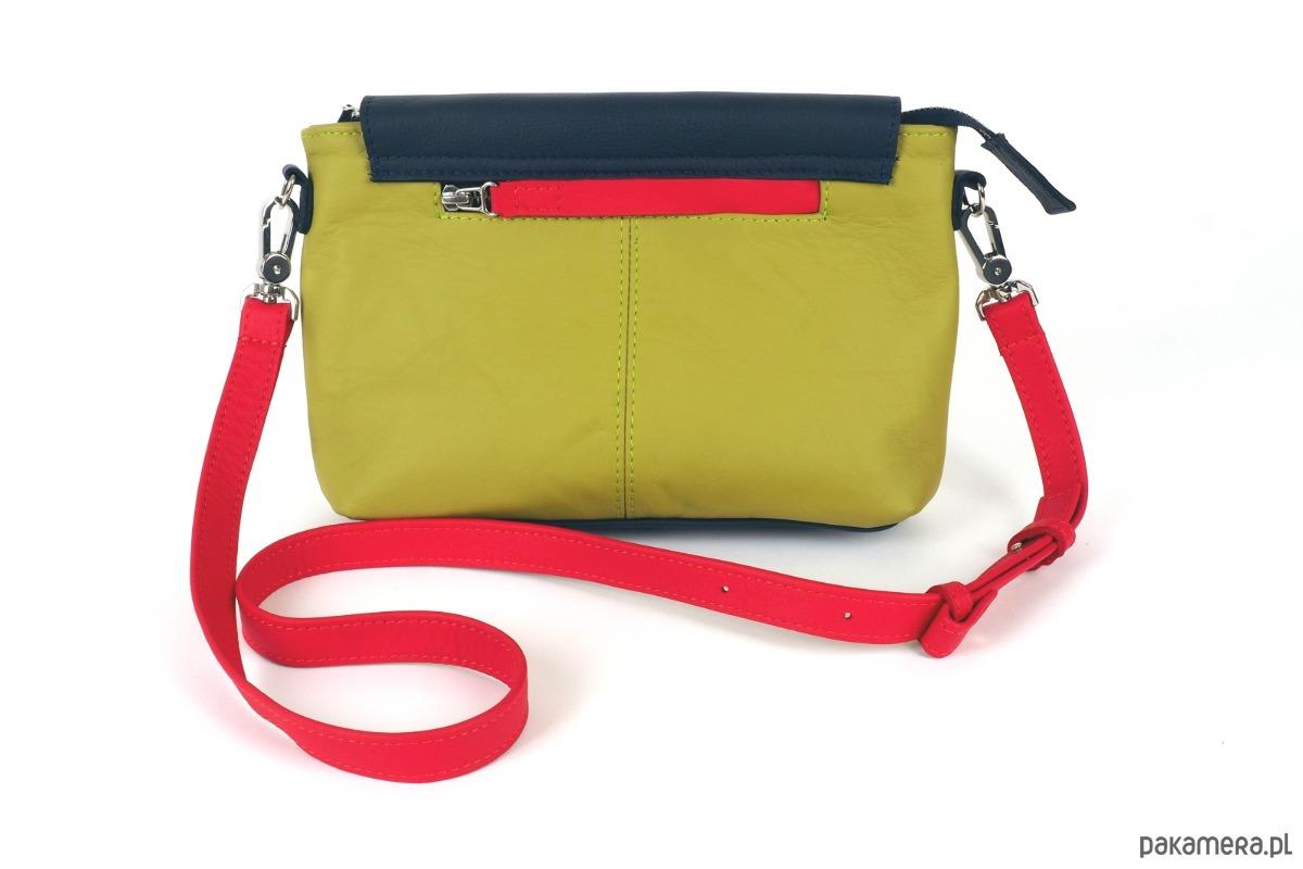 52b011d2fba73 Torba mała listonoszka VICKY limonka-granat - torby na ramię ...