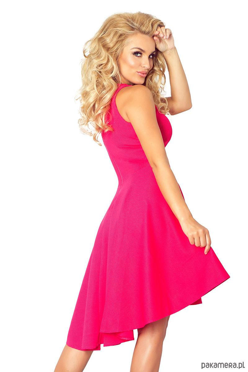 2311ec3089 66-3 Asymetryczna sukienka - malinowa - sukienki - midi - Pakamera.pl