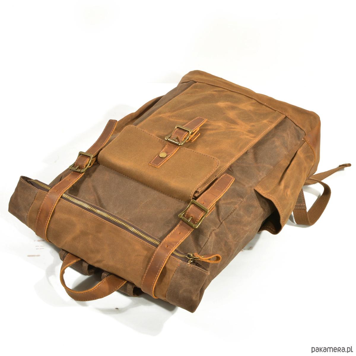 632ed4499125b P8 WAX STANFORD UNISEX™ plecak płótno wosk. - plecaki - Pakamera.pl
