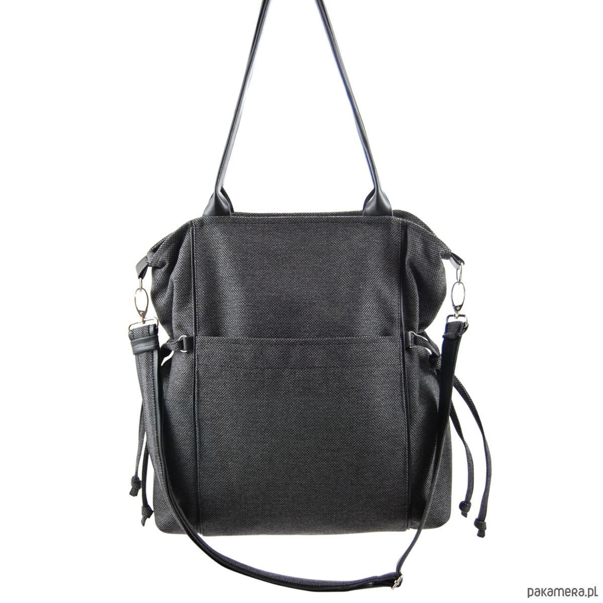 f54a2f8eb601b AMBER - duża torba - shopper - grafitowa - torby na ramię - damskie ...